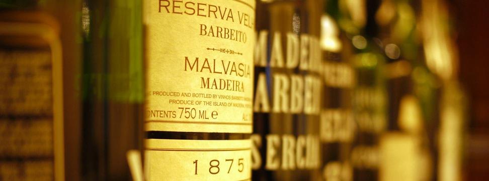 Bottles of Mediera at the Jefferson