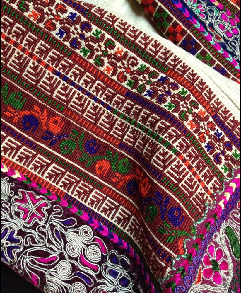 Close up of Palestinian Embroidery