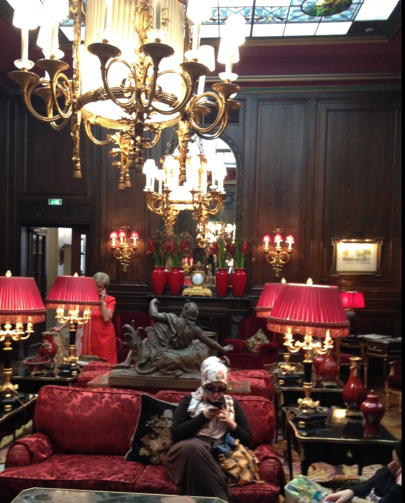 uxurious Sitting Room of the Sacher Hotel
