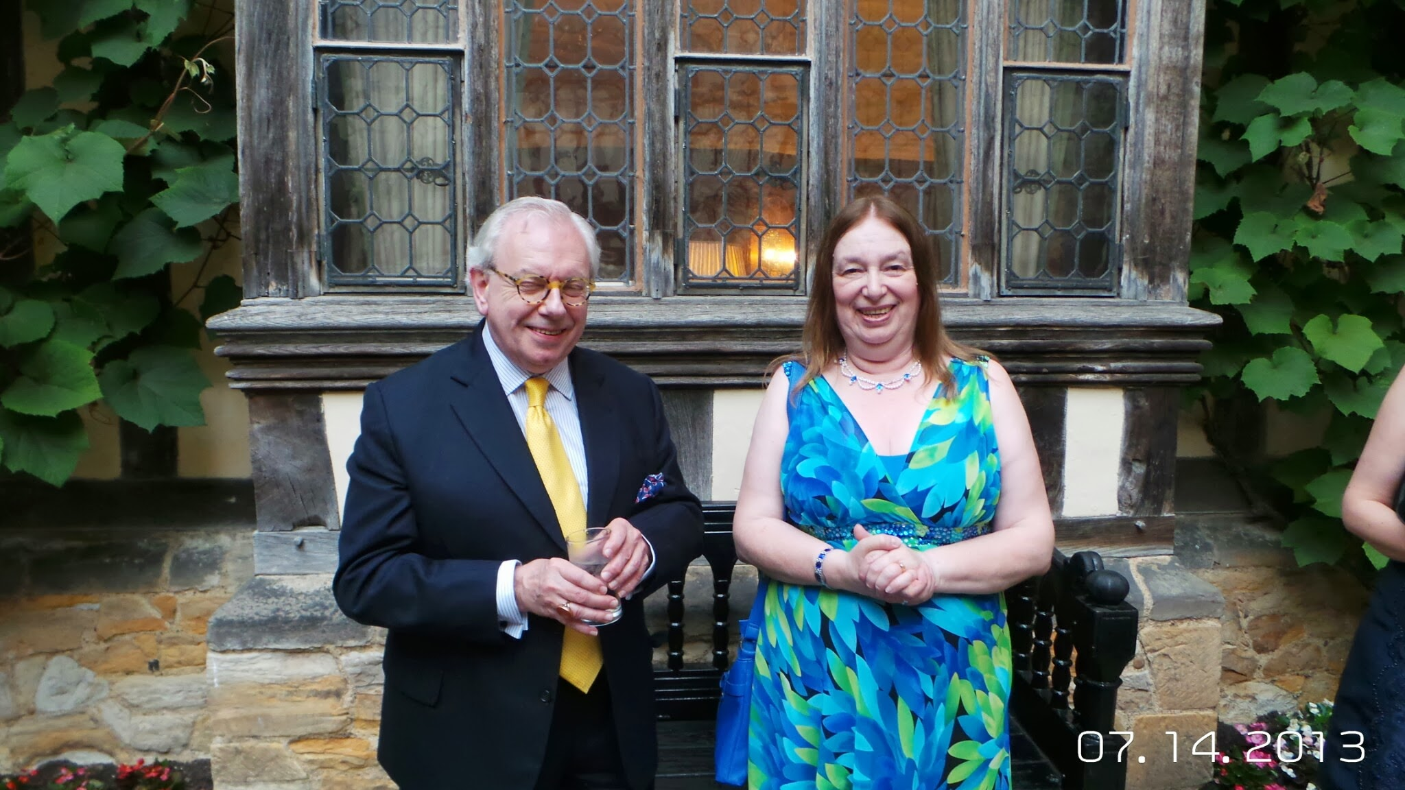 Alison Weir and David Starkey at Hever Castle