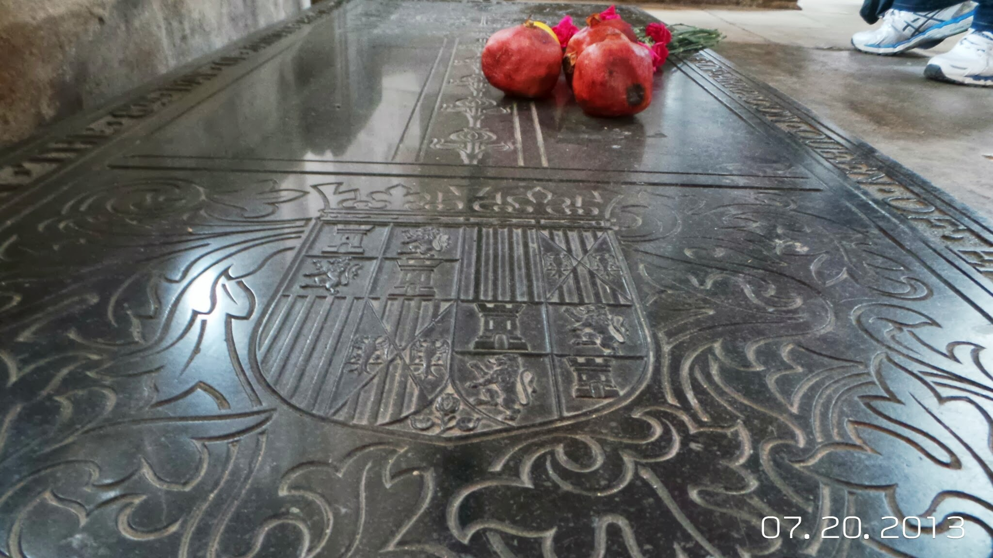 Queen Katharine of Aragon's Tomb at Lincoln Cathedral.  First of Henry VIII's Six Wives