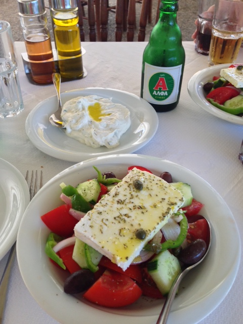 Time for lunch at the port of Nauplion, Greece