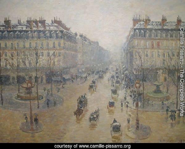 Pissarro Avenue de L'Opera, Paris, 1898