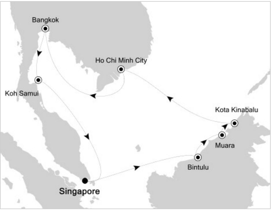 silversea itinerary
